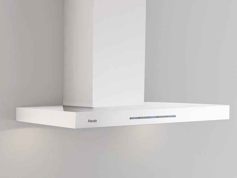 Campana de pared p 828 inox blanco pando estudio proyecta - Campana extractora 90 cm ...