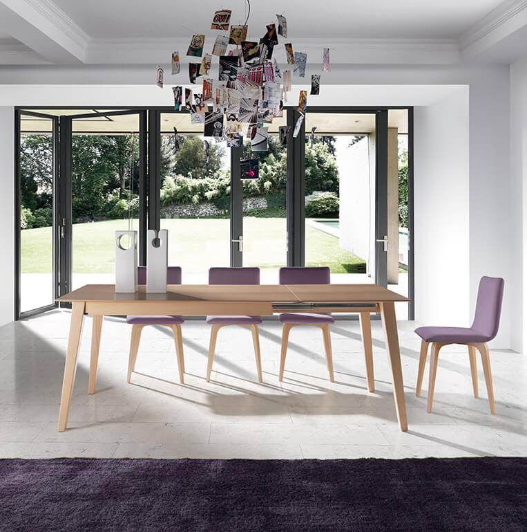 Mesa rectangular extensible mod 290 almosa estudio - Mesa comedor porcelanico ...